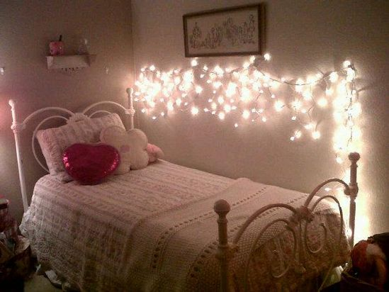 Twinkle bedroom fairy lights for the rest of the year.