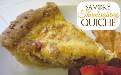 savory thankgiving quiche