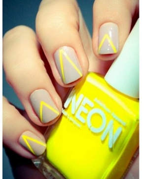 Neon and Nude Nails