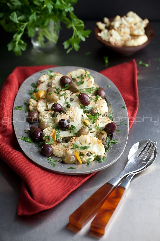 Cauliflower with Olives and Herbs Roasted Cauliflower with Olives and Herbs