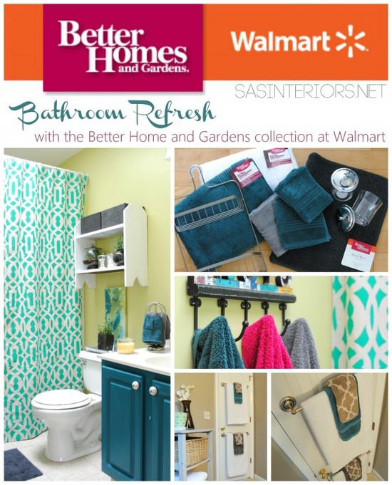 Better Homes and Gardens collection exclusively at Walmart - Bathroom refresh by @Jenna_Burger, sasinteriors.net