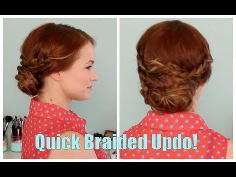 Back to School: Quick Braided Updo! - YouTube