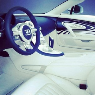 All things white and blue-tiful ;)- inside the Amazing Bugatti Veyron!