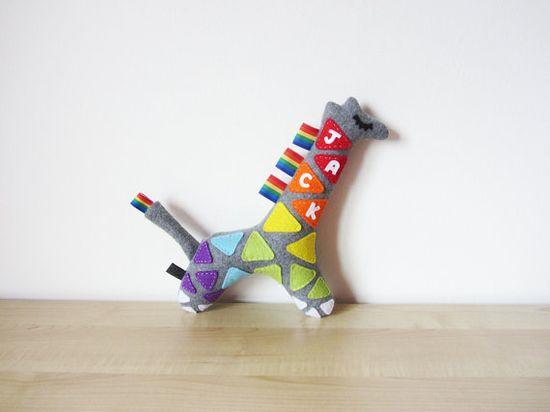Personalised Baby Toy: Name Giraffe on Etsy, $24.51