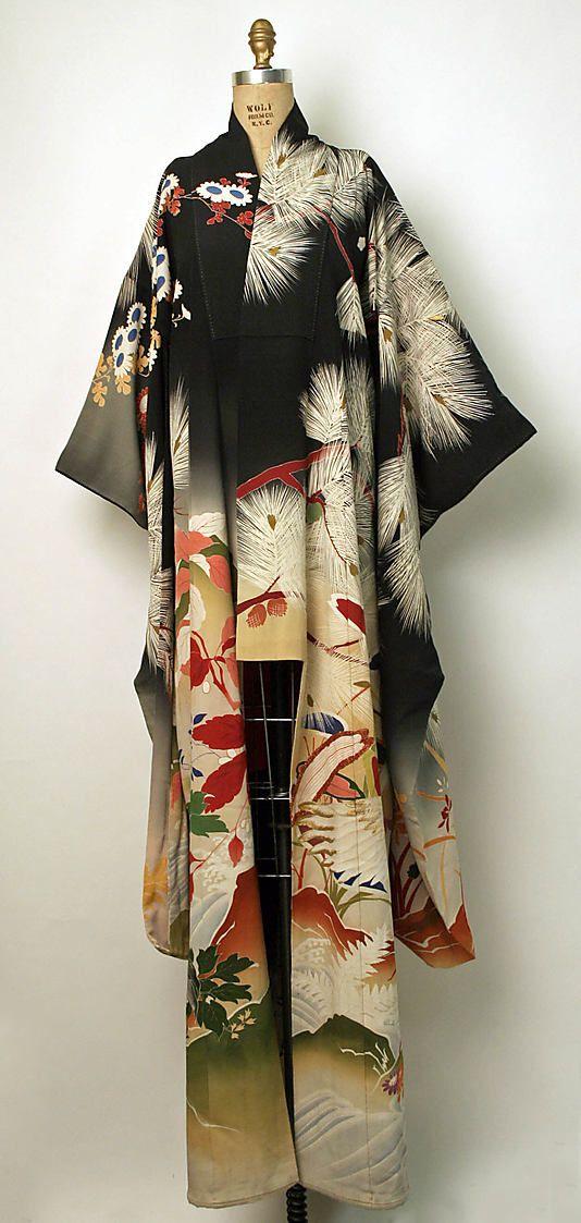 Kimono (Furisode)  Date: 1850–1950 Culture: Japanese Medium: silk
