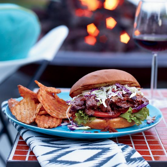 Hanger-Steak Sloppy Joes with Chopped Slaw // More Great Sandwiches: www.foodandwine.c... #foodandwine