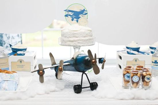 Vintage Airplane birthday