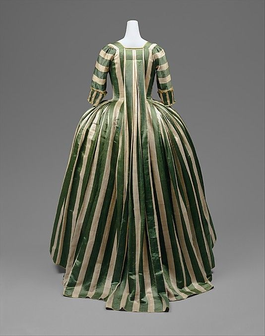 1778-85 French, linen, silk