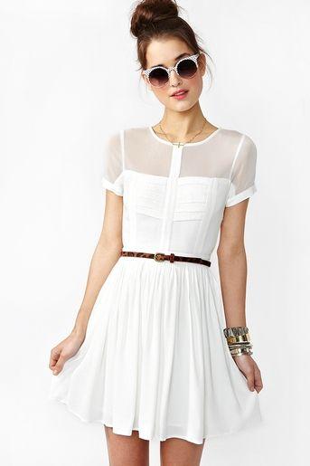 sheer and white dress
