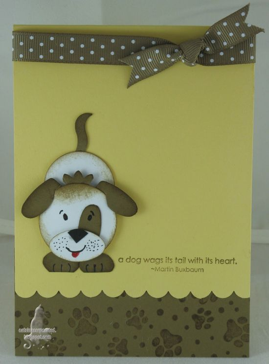 Cute punch dog card