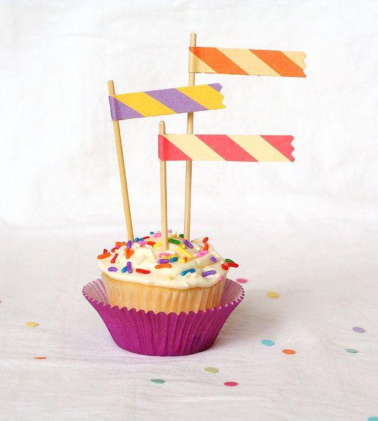flag cupcake