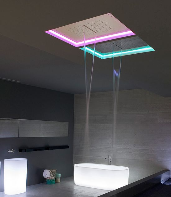 SHOWER HEAD ? antoniolupi presented at ISH new versions of Meteo Shower /  with LED light