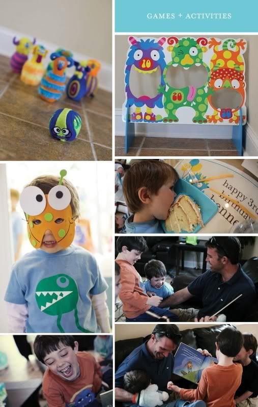 Adorable little monster birthday party!