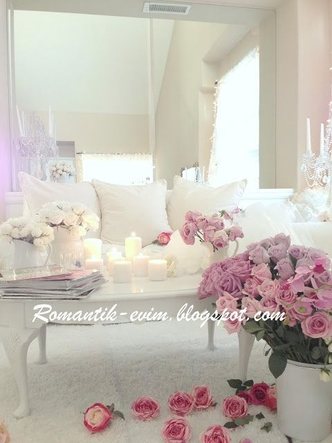 Romantic living room design - Romantic l - myshabbychicdecor...