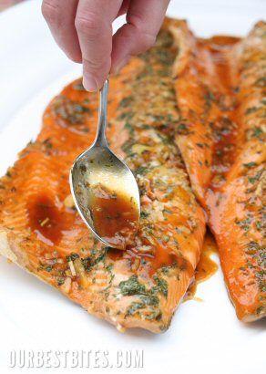 Orange teriyaki salmon