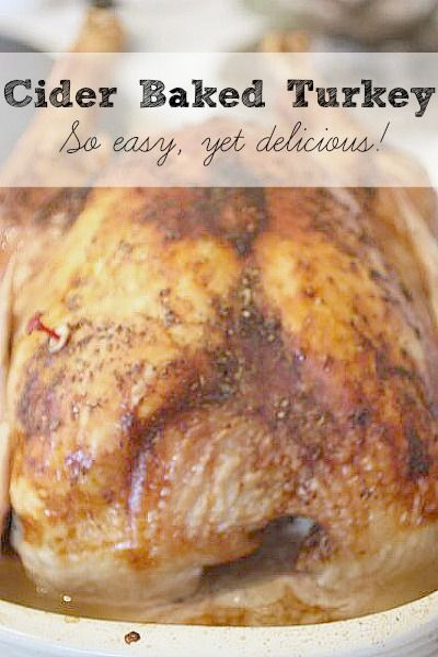 Does making a turkey seem daunting? This is the PERFECT recipe for you. It's SO easy yet delivers GREAT flavors. Recipe for turkey breast or whole turkey.