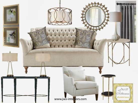 Elegant Living Room Design Board