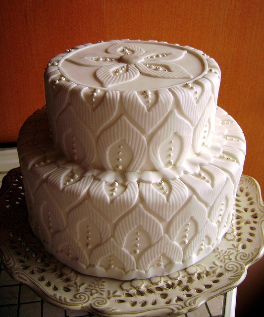 White on white cake