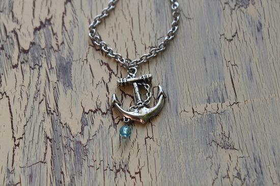 Anchor Necklace - Antique Silver - Nautical. $16.00, via Etsy.
