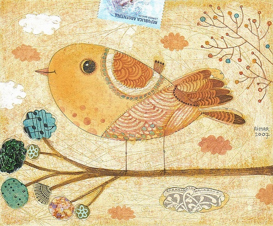 The cutest bird illustration...ever!