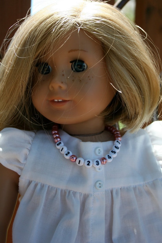 American Girl/18 Doll Necklace With Phone Number by kateybree, $6.00