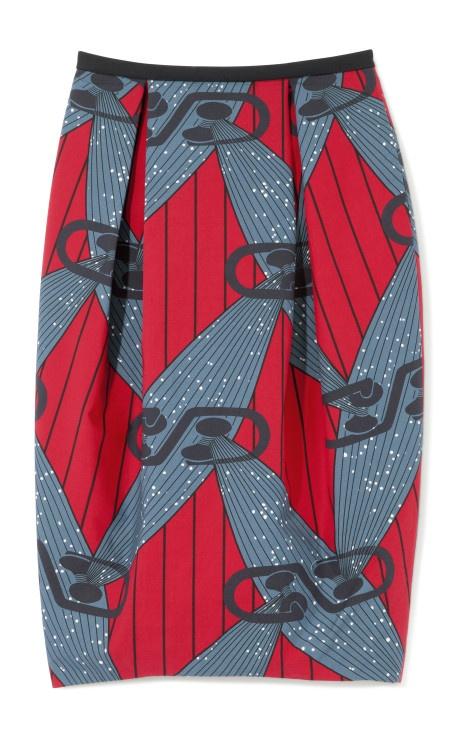 High-Waist Printed Wax Cotton Skirt by Stella Jean Now Available on Moda Operandi