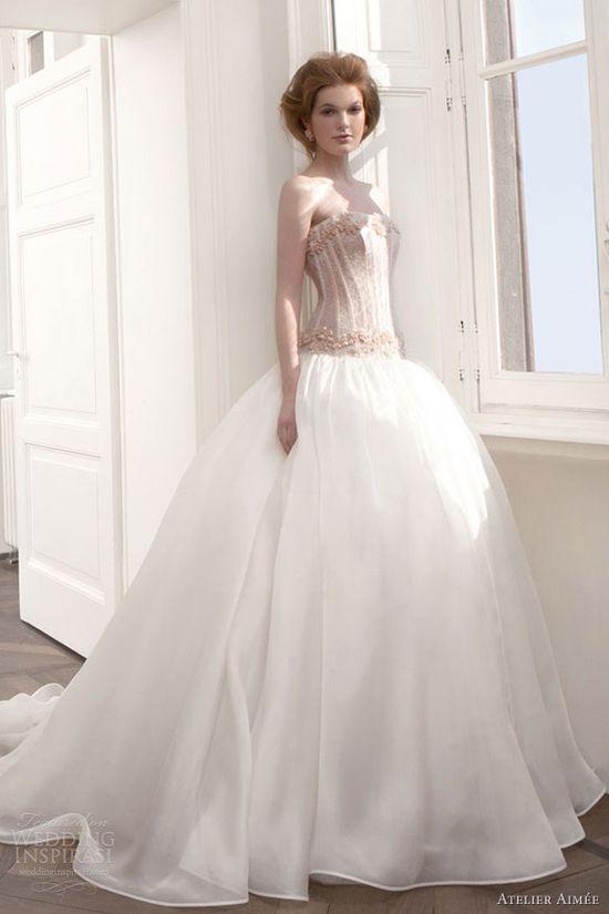 atelier aimee 2013 drop waist ball gown wedding dress