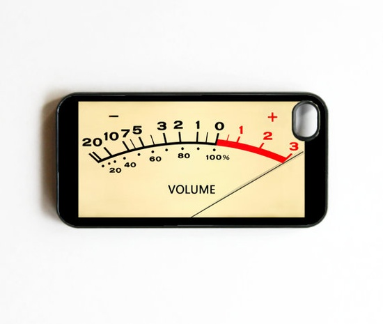 iPhone Case Volume Meter Pegged Cases for by onyourcasestore