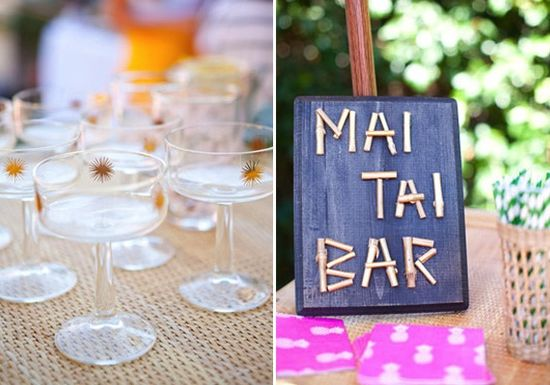 diy mai tai bar #party #decor