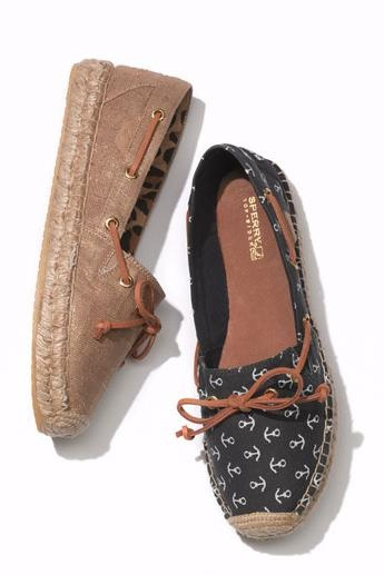 Sperry Top-Sider 'Katama' Flat in Navy Anchors #Nordstrom #Shoes