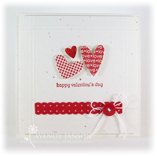 Cute little handmade Valentine card!