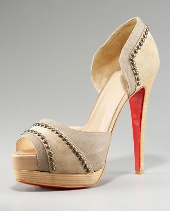 Studded nude Louboutins. My dream is to own a pair of these.