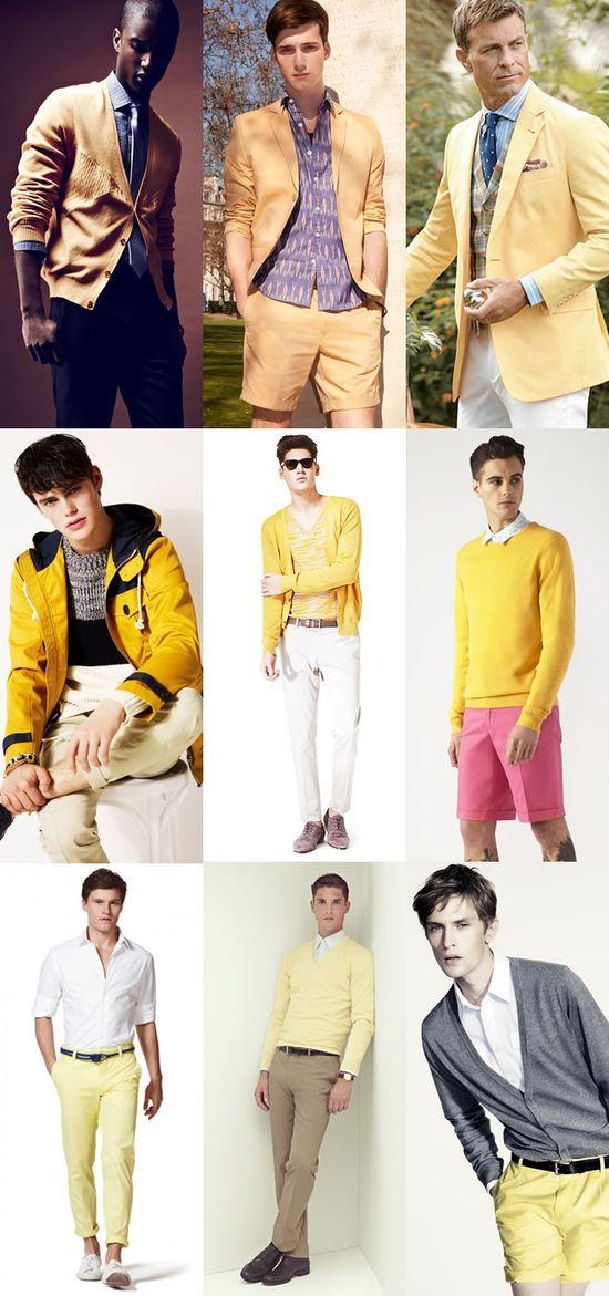 Men's Yellow Fashion Clothing #tlc waterfalls #my summer clothes