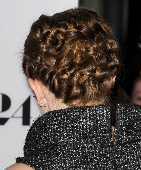 Emma Watson Wore a Braided Updo Last Night That Will Make You Forget Every Single Braid Youve Ever Seen in Your Life