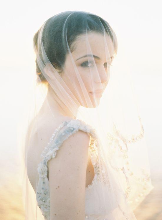 Classic Tulle Wedding Veil Photo by Jose Villa #veil #wedding