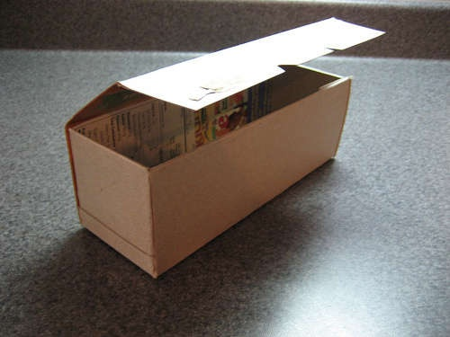 Love this tutorial for making gift boxes out of cereal boxes.