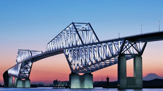 Tokyo Gate Bridge . Tokyo Japan . #LED #lighting #installation #architecture