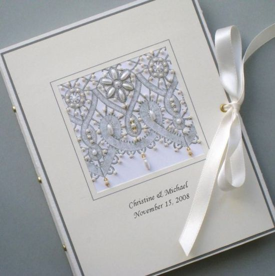 Custom Photo Album Keepsake Beaded Lace by Daisyblu on Etsy, $24.00