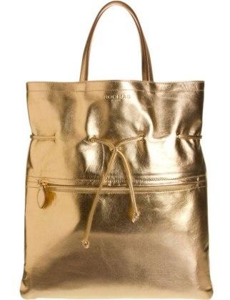 50 Dream Handbags: rochas metallic karina tote, $1,525 #handbags, #handbags galore, #purse, #shoulder bag, #evening bag, #designer bags, #satchel