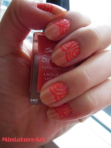 Pink Swirls - Nail Art Gallery by NAILS Magazine