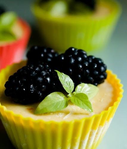 Lemon Ice Box Pie Cupcakes with Lavender Benne Seed Shortbread Crust