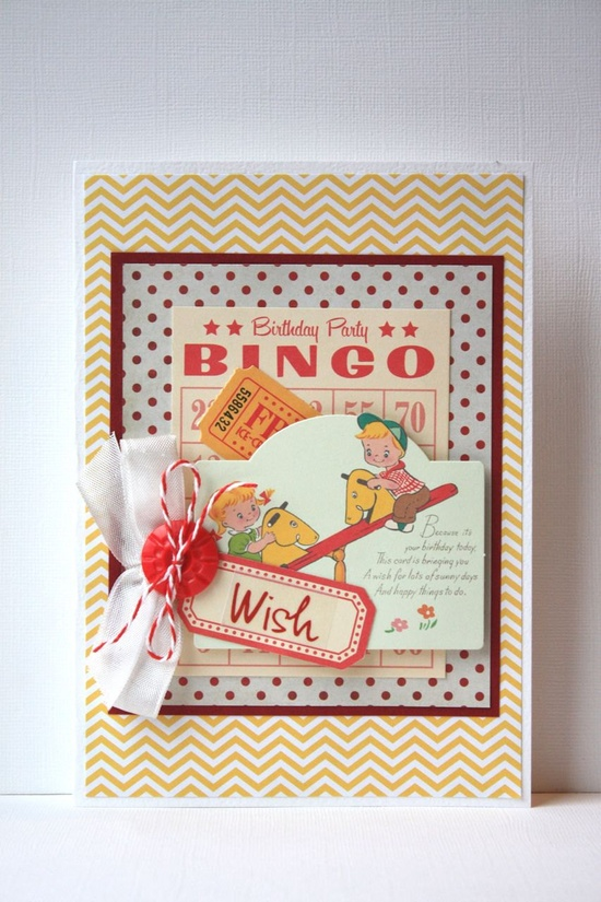Retro Children's Birthday Card