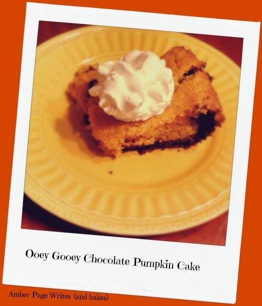ooey gooey pumpkin and chocolate cake