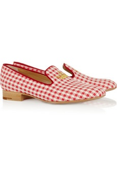 These red gingham loafers are everything! #iWant