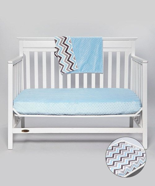 Take a look at this Lolly Gags Baby Blue Minky Blanket Set on zulily today!