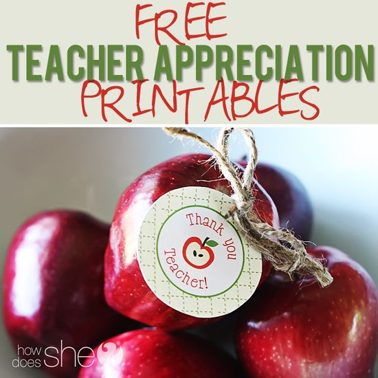 Free Teacher Appreciation Printables