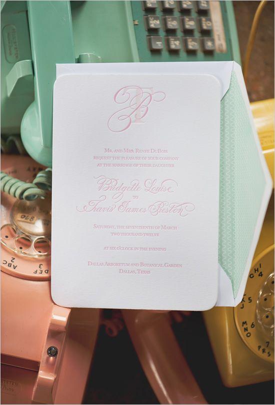 pink wedding invite