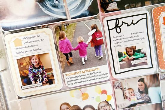 different ways to fit photos + journaling on 3x4 cards // jennifer woodbury