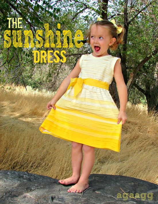A girl and a glue gun: the sunshine dress tutorial