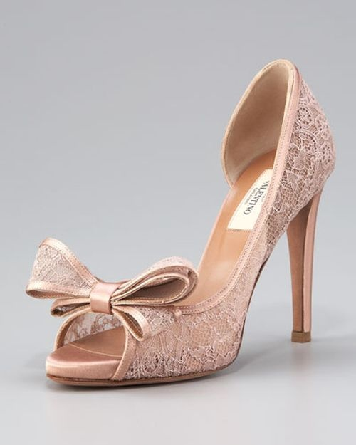 Valentino Lace Pumps #wedding #shoes